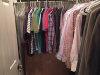 Before photo of Zach's closet