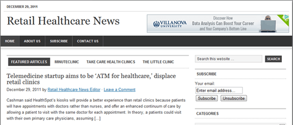 Retail Healthcare News