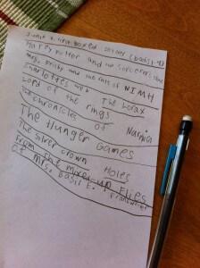 Carter's List of Books
