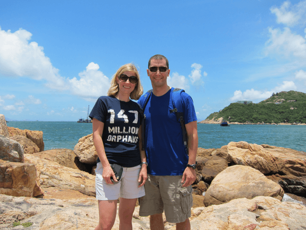 Mandy & I by one of the many bays around Hong Kong