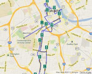 St. Jude's Country Music Half-Marathon Course